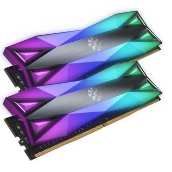 ADATA 威剛 XPG SPECTRIX D60G DDR4-3200 (8G*2) 16G CL16 RGB炫光記憶體