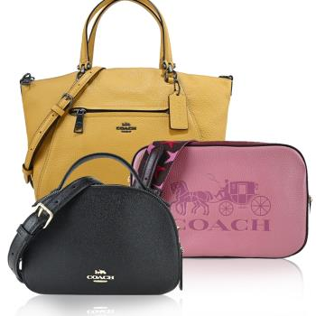 COACH 馬車LOGO熱銷新款相機包/水餃包/兩用包(多款選)