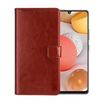 IN7 瘋馬紋 Samsung Galaxy A42 5G (6.6吋) 錢包式 磁扣側掀PU皮套 吊飾孔 手機皮套保護殼