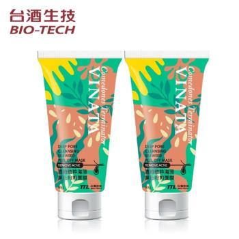 【台酒生技】酒粕海藻淨化粉刺面膜80g*2