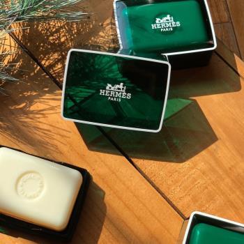 【Hermes 愛馬仕 】D'Orange Verte 橘綠之泉香皂 50g(含盒)x2入