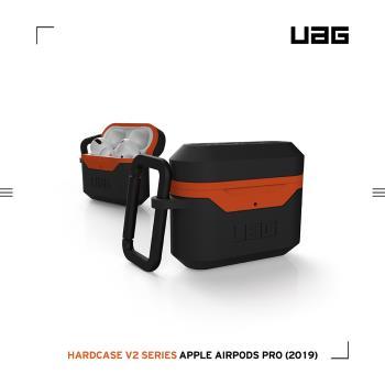 UAG AirPods Pro 耐衝擊硬式保護殼V2-黑橘