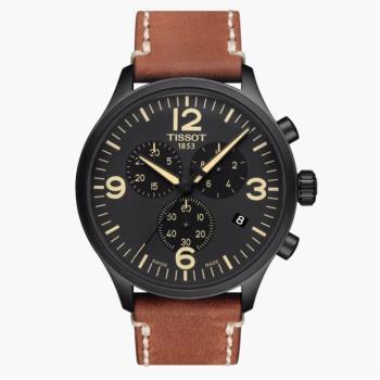 TISSOT天梭 T1166173605700 / 計時碼錶石英腕錶 / 45mm