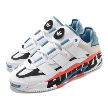 adidas 休閒鞋 Niteball 流行 男鞋 愛迪達 三葉草 麂皮 異材質 穿搭 白 藍 FX7644 [ACS 跨運動]