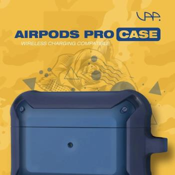 VAP Airpods pro 雙色軍規防摔殼(軍藍+深藍)
