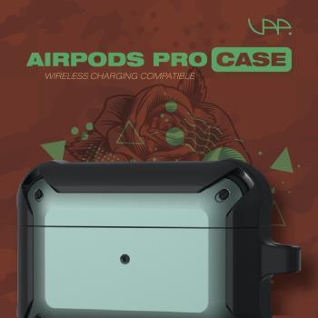 VAP Airpods pro 雙色軍規防摔殼(軍綠+霧黑)