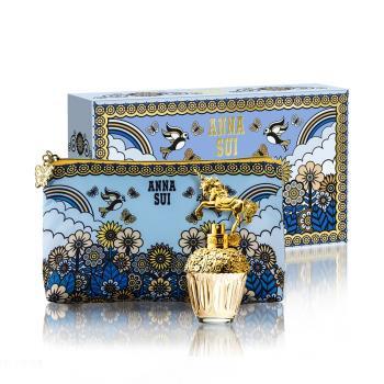 【ANNA SUI】獨角獸童話禮盒(淡香水30ml+愛情鳥化妝包)