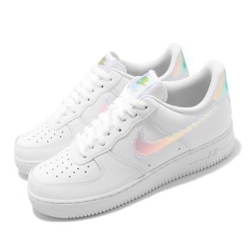 Nike 休閒鞋 Air Force 1 07 LV8 男鞋 炫彩 勾勾 AF1 流行 皮革 白 CV1699100 [ACS 跨運動]