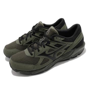 Mizuno 慢跑鞋 Maximizer 23 運動休閒 男鞋 美津濃 路跑 緩震 輕量 透氣 綠 黑 K1GA210086 [ACS 跨運動]