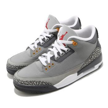 Nike 休閒鞋 Air Jordan 3 Retro 男鞋 經典款 喬丹三代 爆烈紋 復刻 穿搭 灰 白 CT8532012 [ACS 跨運動]