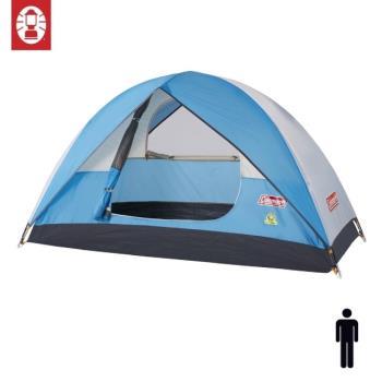 (美國 Coleman) Sundome Tent Cyan 日光浴1人帳篷 天藍色 登山 雙窗 透氣 防雨