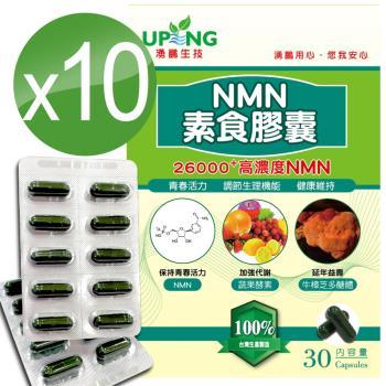 【湧鵬生技】高濃度NMN素食膠囊26000+10入組(NMN:藻精蛋白:每盒30顆:共300顆)