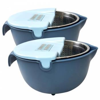 MIAU  360度多功能不鏽鋼瀝水籃組