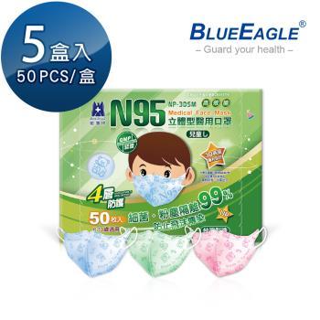 【藍鷹牌】立體型6-10歲兒童醫用口罩 50片x5盒