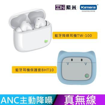 藍色套裝組 ZMI 紫米 真無線主動降噪藍牙耳機 PurPods Pro TW100