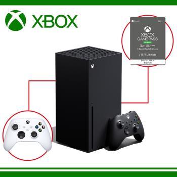 《現貨供應》Xbox Series X 台灣專用機 + XBOX Game Pass Ultimate 3個月 +Xbox 無線控制器(磨砂黑含線)