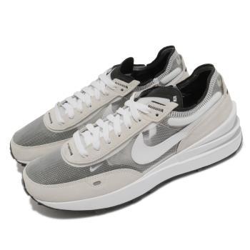 Nike 休閒鞋 Waffle One 麂皮 運動 男鞋 基本款 舒適 簡約 小SACAI 穿搭 白 灰 DA7995100 [ACS 跨運動]