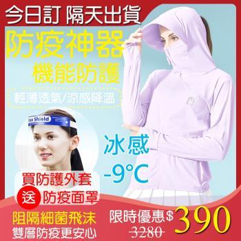 ★防疫必備-送防疫面罩【A1 Darin】防疫神器-涼感降溫機能全防護外套
