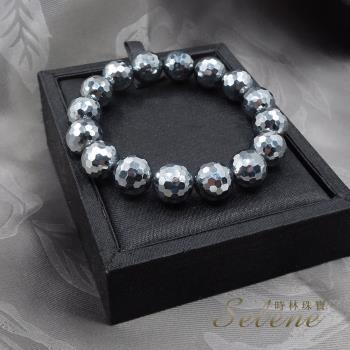 【Selene】鈦赫茲切角能量手鍊(12mm特價品)