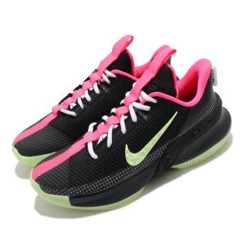 Nike 籃球鞋 Ambassador XIII 運動 男鞋 明星款 LBJ 避震 包覆 夜光底 球鞋 黑 綠 CQ9329001 [ACS 跨運動]