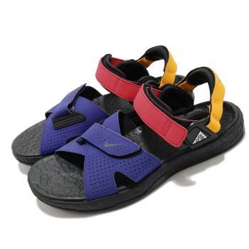 Nike 涼鞋 ACG Air Deschutz 男鞋 輕便 舒適 戶外 魔鬼氈 夏日 穿搭 黑 藍 CT3303400 [ACS 跨運動]