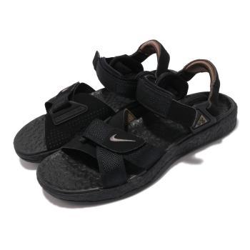 Nike 涼鞋 ACG Air Deschutz 男女鞋 戶外 夏日穿搭 魔鬼氈 潮流 黑 灰 DC9093001 [ACS 跨運動]