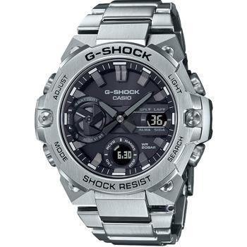 CASIO G-SHOCK 太陽能碳纖維核心防護藍牙功能錶(GST-B400D-1A)