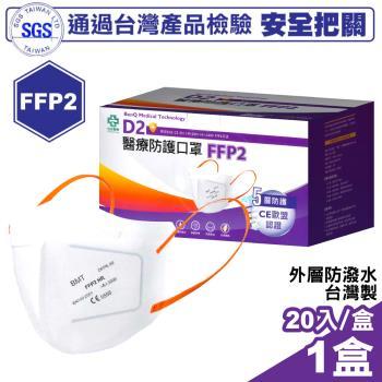 怡安醫療 明基 FFP2五層高防護口罩 20入/盒 (台灣製造)