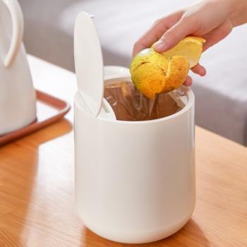 AOTTO 北歐極簡風按壓式桌上垃圾桶(小身材 大容量)