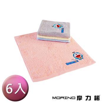 (6條組)哆啦A夢Doraemon小叮噹 MIT純棉刺繡方巾/手帕 MORINO摩力諾