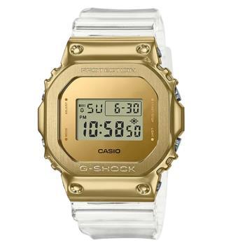 CASIO G-SHOCK 奢華透金方框腕錶 GM-5600SG-9