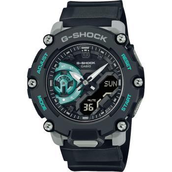CASIO 卡西歐 G-SHOCK 一起冒險去 碳核心防護構造雙顯計時手錶(GA-2200M-1A)