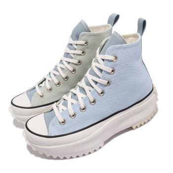 Converse 休閒鞋 Run Star Hike 高筒 男女鞋 厚底 經典款 厚底 情侶穿搭 牛仔布拼接 淺藍 白 171894C