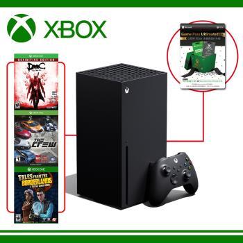 【現貨供應】Xbox Series X 台灣專用機 + XBOX Game Pass Ultimate 3個月加14天 +XONE精選遊戲*3