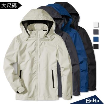 【HeHa】男款-高領防護機能防風外套 四色
