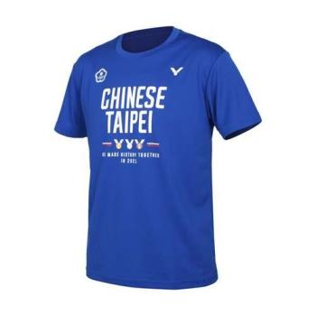 VICTOR 東京奧運中華隊官方紀念男短袖T恤-台灣製 吸濕排汗 涼感 勝利