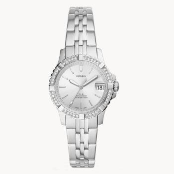 FOSSIL 三針不銹鋼銀色腕表/32mm ES5000