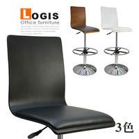 邏爵LOA-020B0X炫感高背曲木高腳皮革事務椅/電腦椅/吧台椅(三色)