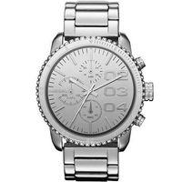 DIESEL 忍者戰將時尚晶鑽計時腕錶-銀 DZ5337