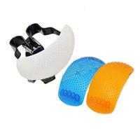 單眼相機內閃燈專用柔光罩(白 橘 藍三色組)