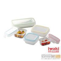 【iwaki】扣式耐熱玻璃微波盒(5入組)