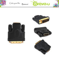 Bravo-u DVI to HDMI 數位影音鍍金轉接頭