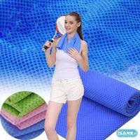 日本SANKI-冰涼毛巾2入粉紅色+藍色(95CmX20Cm)