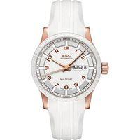 MIDO Multifort 先鋒系列時尚機械腕錶-白x玫塊金 M0188303701200