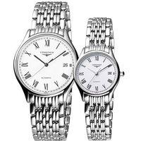 LONGINES Lyre 琴韻 羅馬經典機械對錶-白 L48604116+L43604116