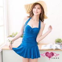 天使霓裳 戀夏假期泳衣 一件式連身款(藍) RG00888
