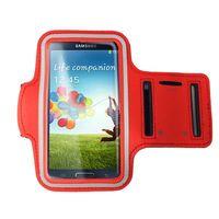 手機專用運動臂套(三星/小米/HTC/SONY 5吋以下手機通用)_紅