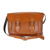 【The Leather Satchel Co.】11吋 英國手工牛皮劍橋包 (倫敦棕)