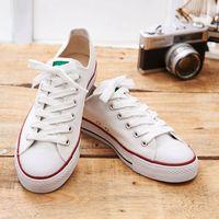 中國強 MIT 素面休閒帆布鞋CH66(白色)