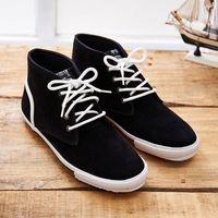 中國強 MIT 質感絨布皮休閒鞋CH102(黑色)